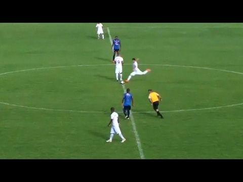 Brazilian Footballer Scores Direct From Kick Off In League Match