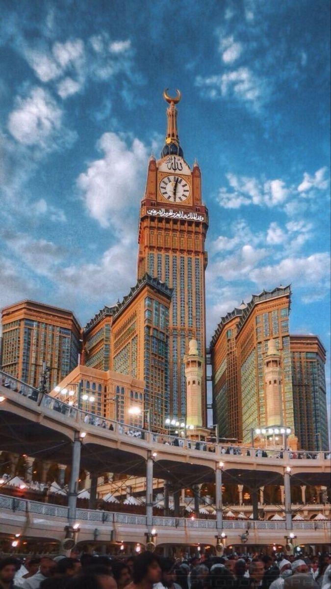 Pin Oleh Najlatala Di M A K K A H T O W E R Arsitektur Islamis Arsitektur Masjid Fotografi Arsitektur