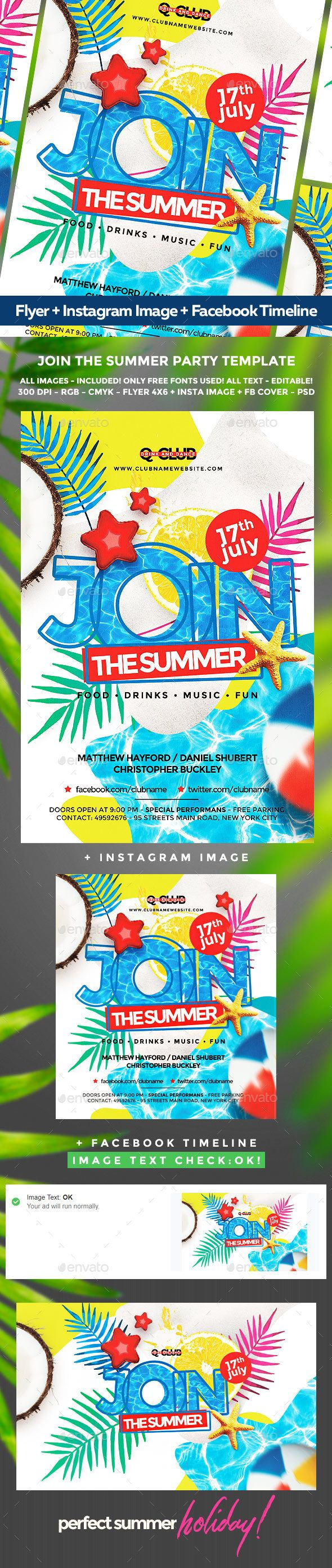 Summer Flyer  Flyer Template Event Flyers And Party Flyer