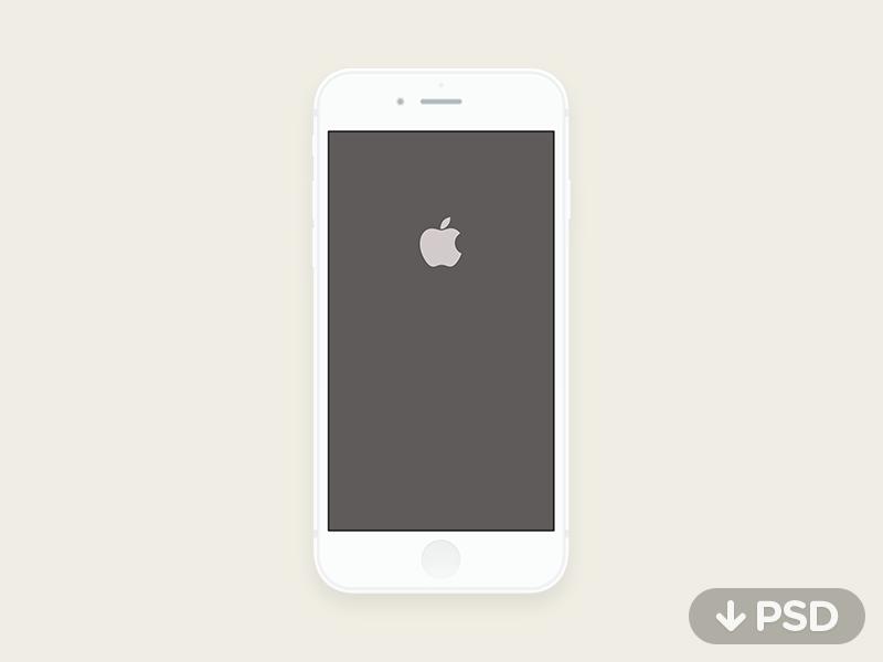 Minimal Iphone 6 Psd Iphone Iphone 6 Ios Apps