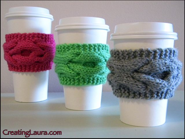 xoxo coffee sleeve knitting pattern | Knitting patterns ...