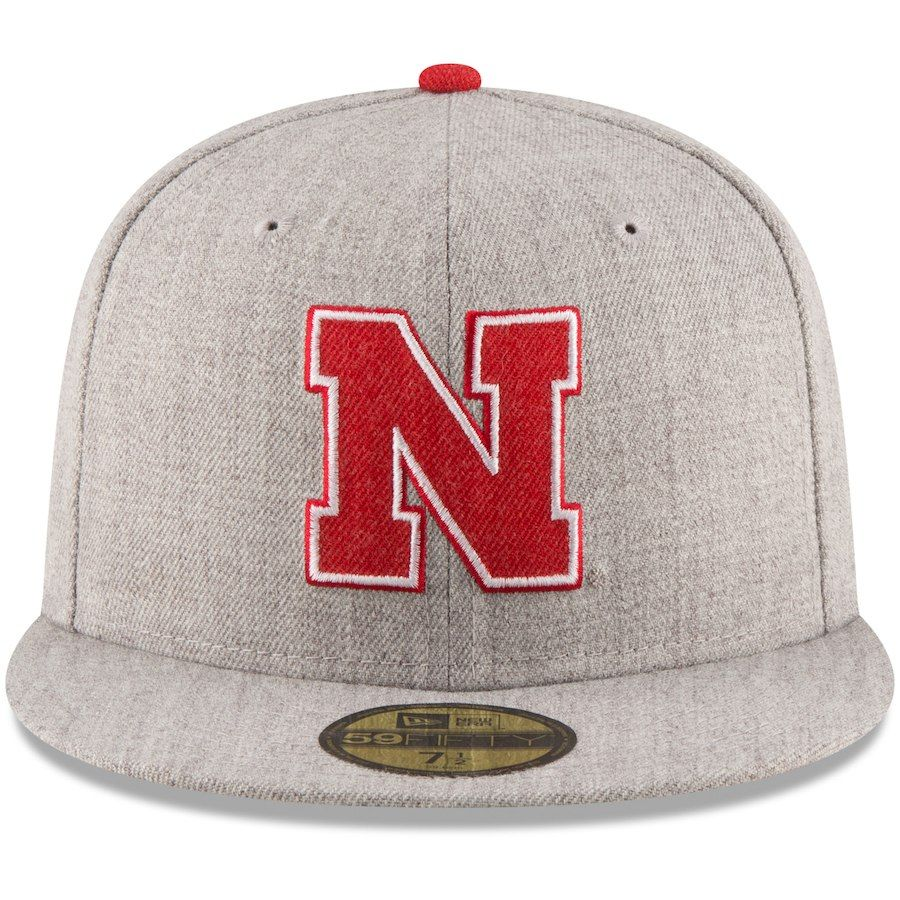 size 40 c3121 38ae3 Nebraska Cornhuskers New Era Hype 59FIFTY Fitted Hat - Heathered Gray