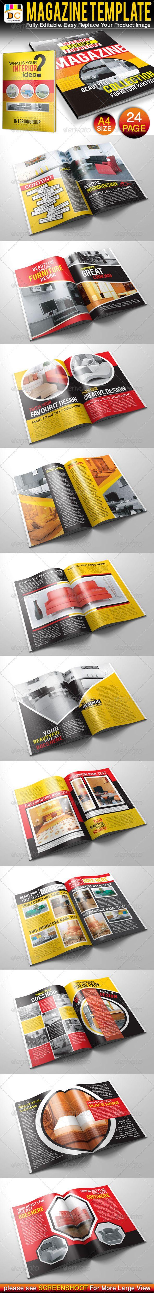Furniture & Interior Magazine Template Vector EPS, AI Illustrator ...