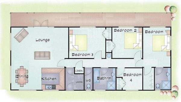 4 bed transportable linear design interesting floor plans 4 bed transportable linear design malvernweather Choice Image