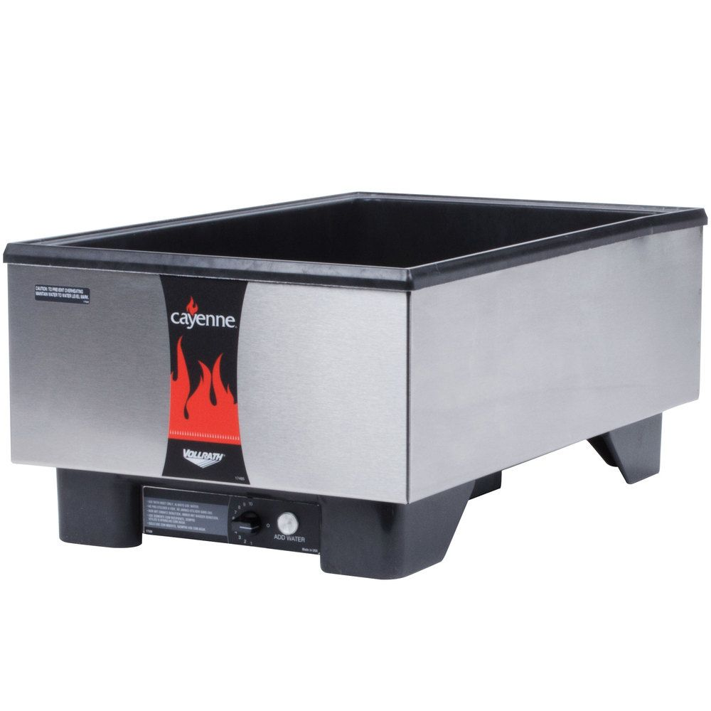 Vollrath 71001 Cayenne Full Size Countertop Warmer With Stainless Steel Exterior 120v 700w Outdoor Appliances Countertops Stainless Steel