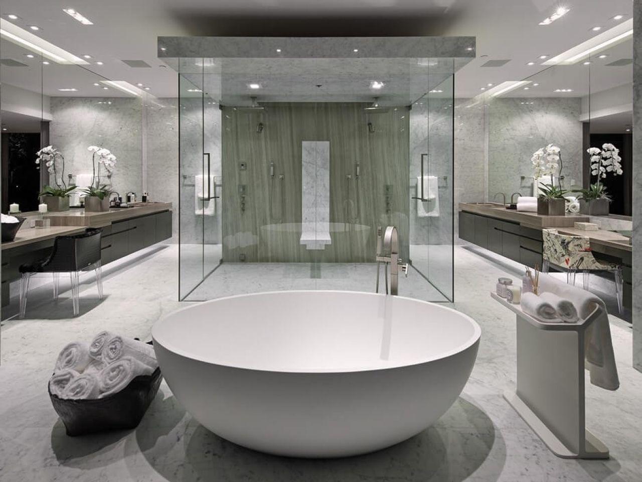 Modern Luxury Master Bathroom Google Search Luxury Master Bathrooms White Master Bathroom Modern Master Bathroom