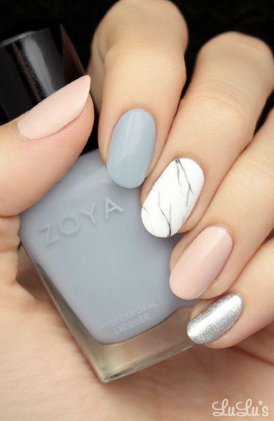 Mani Monday: Pastel Marble Nail Tutorial | Marble nails tutorial ...