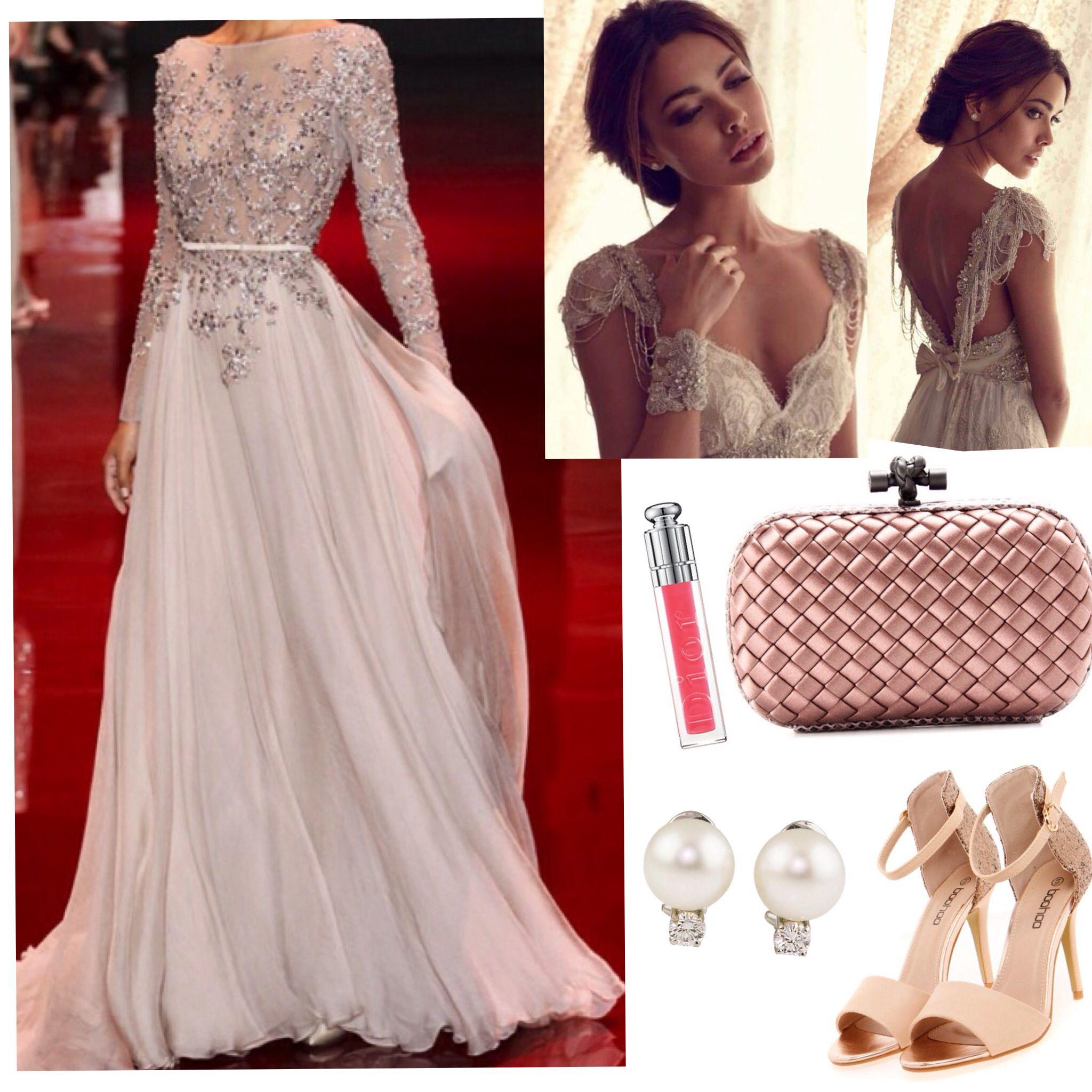 Romantic princess dress pink glamorous prom wedding zuhair murad