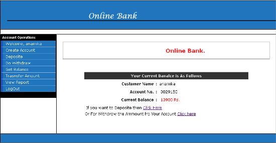Java Online Banking System Student Project Guidance Development Online Banking Online Bank Account Banking