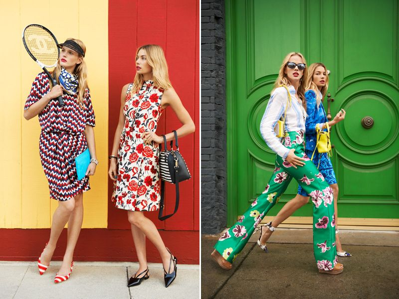 Stripes and polka dots and florals, oh my! I'm crazy about this vibrant, pattern-filled editorial via Harper's Bazaar, shot by Tommy Ton.