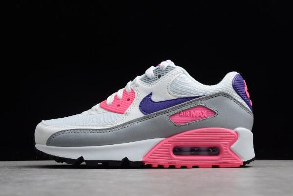 huge discount 83f3e 068d5 Women s Nike Max 90 Essential Laser Pink White Court Purple Wolf Grey  25213-136