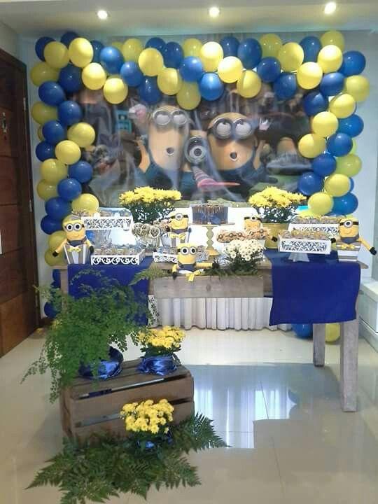 Decoração de Festa  tema Minions