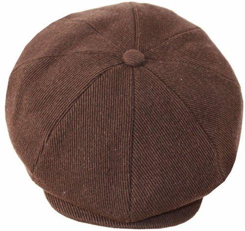 Sakkas 5951bsn Vintage Style Wool Blend Newsboy Snap Brim Cap - Brown - XL  Sakkas http 0d4eecce346
