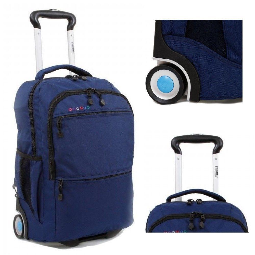 Large Wheeled Backpack Rolling Laptop School Bookbag Travel Carry ...
