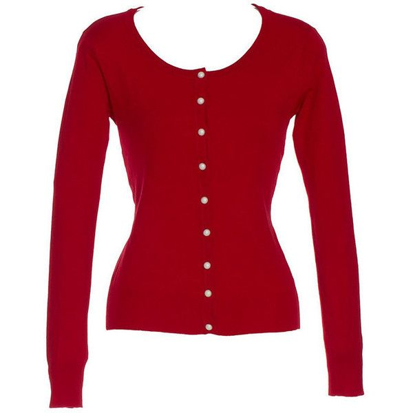 Ladies 50'S Vintage Style sweater/cardigan Red Adult (26 CAD ...