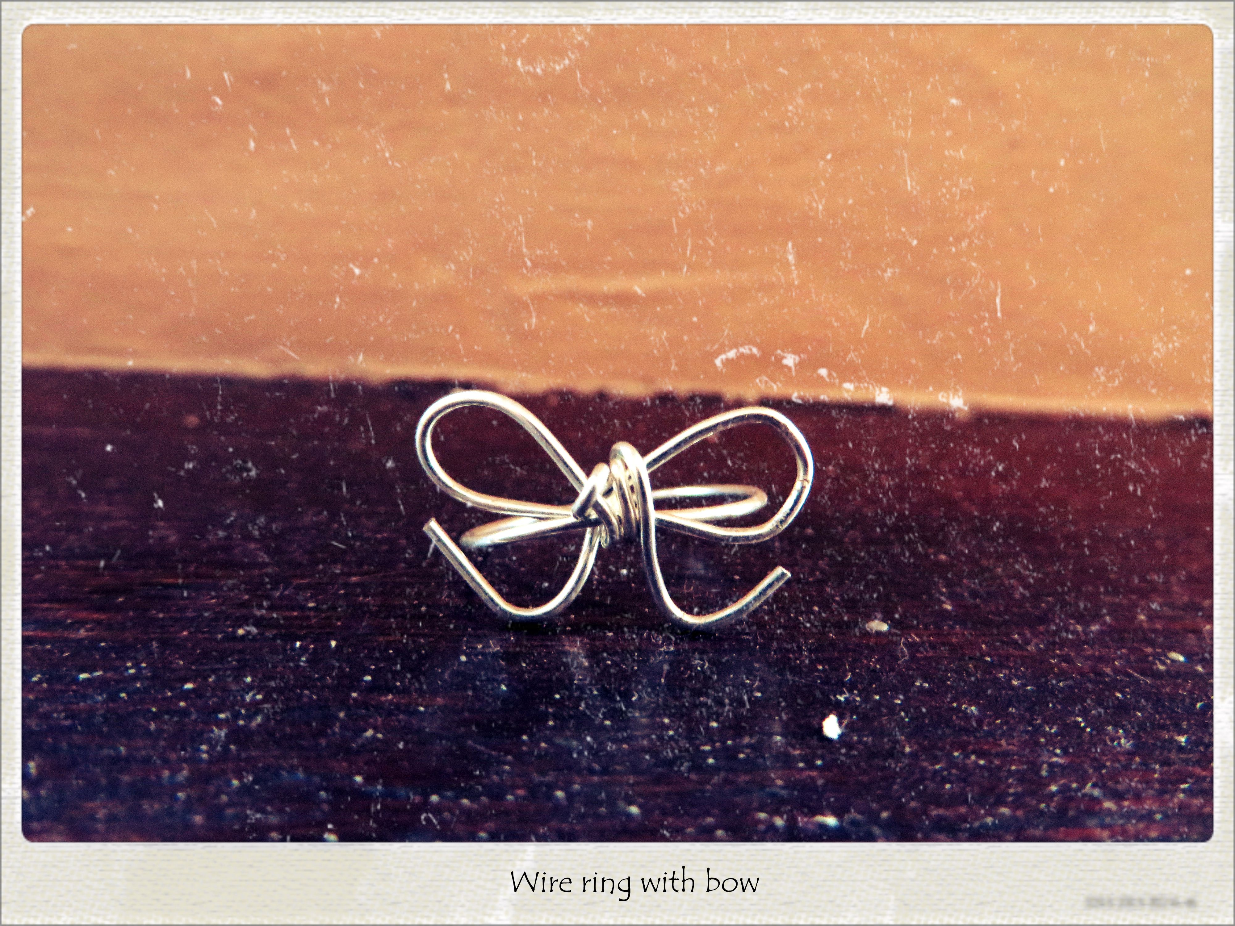 wire ring bow