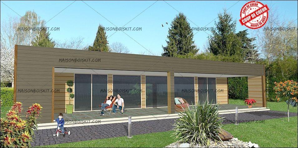 plan tarif maison bois moderne 4 chambres | Maison bois, petites ...