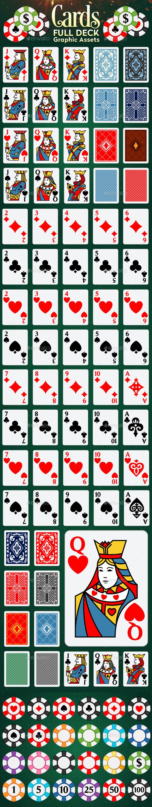 Full Deck Of Playing Cards Playing Card Deck Playing Cards Deck