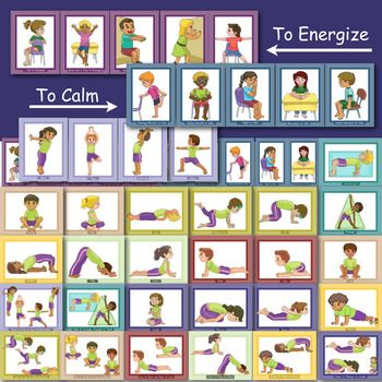yoga cards selfregulation movement breaks for the