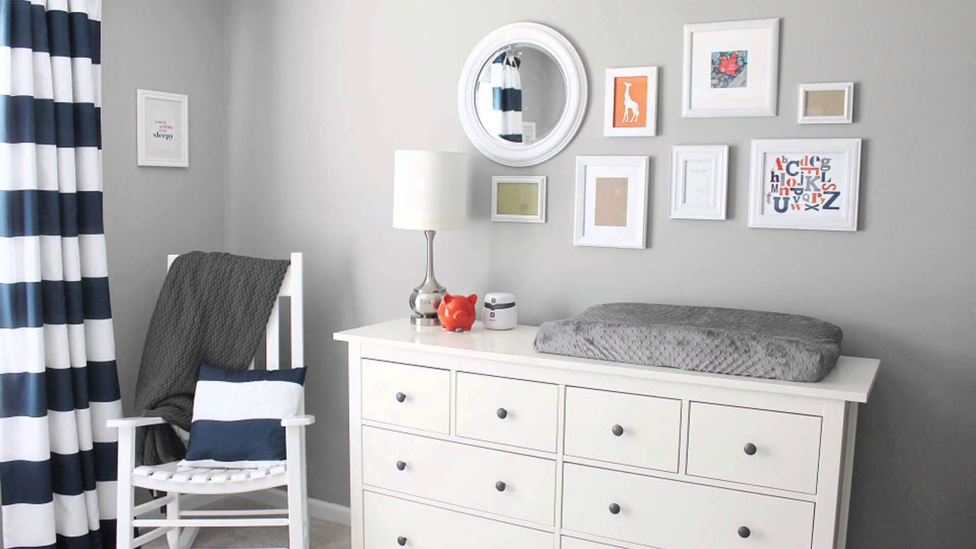 Room Tour of this darling #DIY #Nursery for Twin Boys - love the modern design!