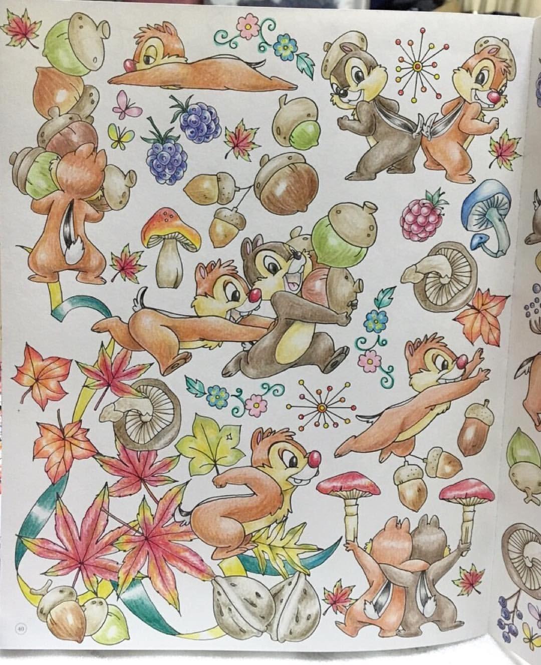 四季を彩るディズニー塗り絵 コロリアージュ Coloring 大人の塗り絵