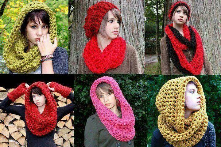 Cuellos crochet