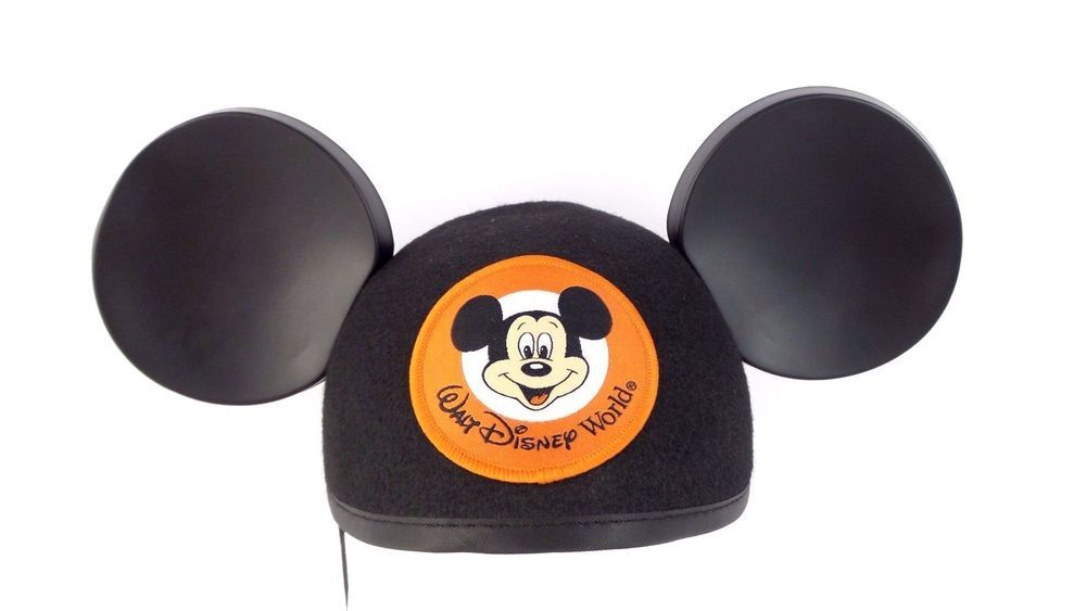 35fa30c61a8 Authentic Walt Disney World Mickey Mouse Ears Felt Hat Cap Black Adult EUC   Disney