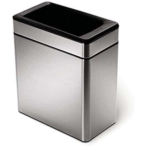 Best Simplehuman Profile Open Trash Can Stainless Steel 10 L 400 x 300