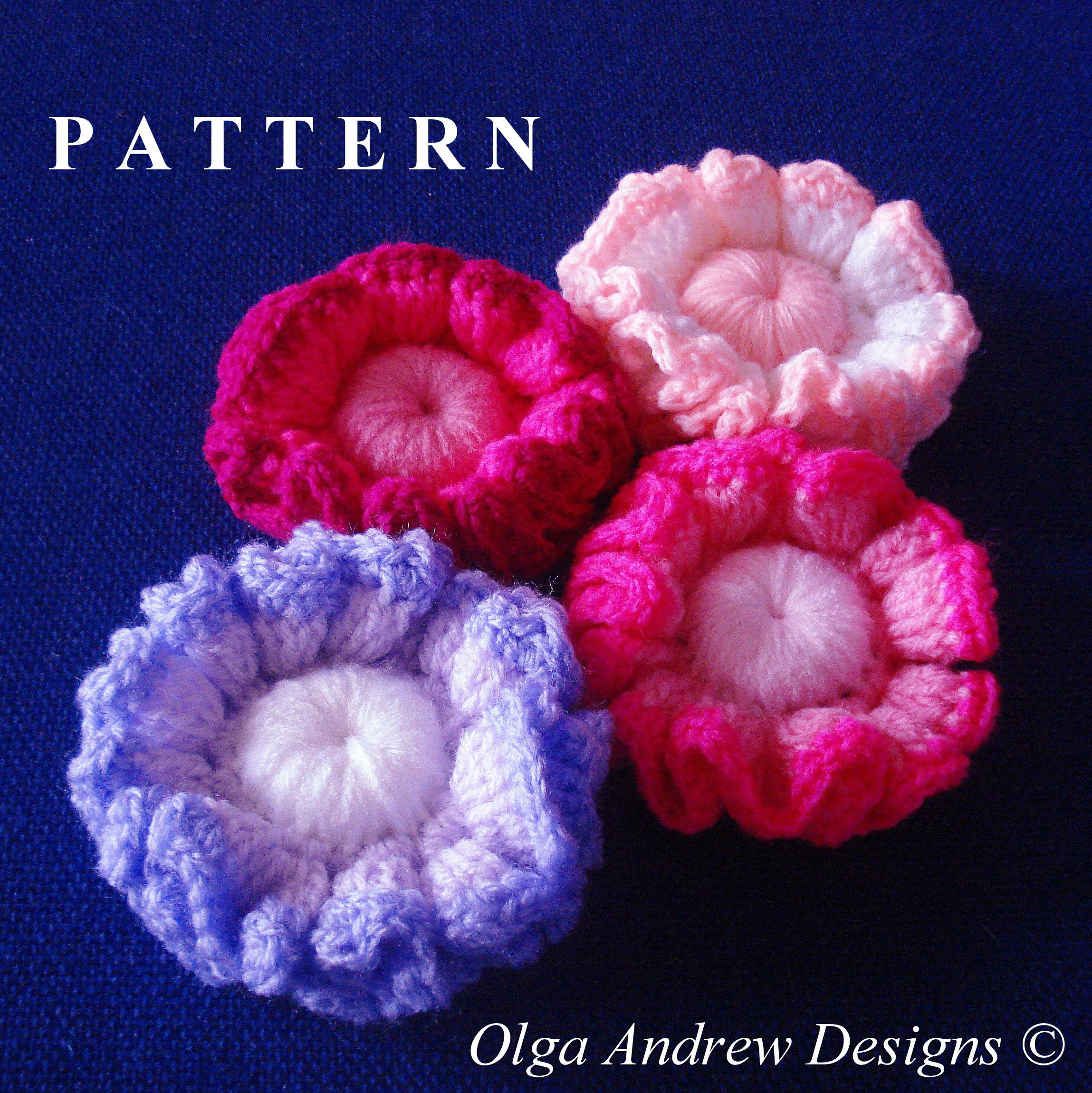 Ruffle plain or ripple edged flower. Easy crochet tutorial pattern ...