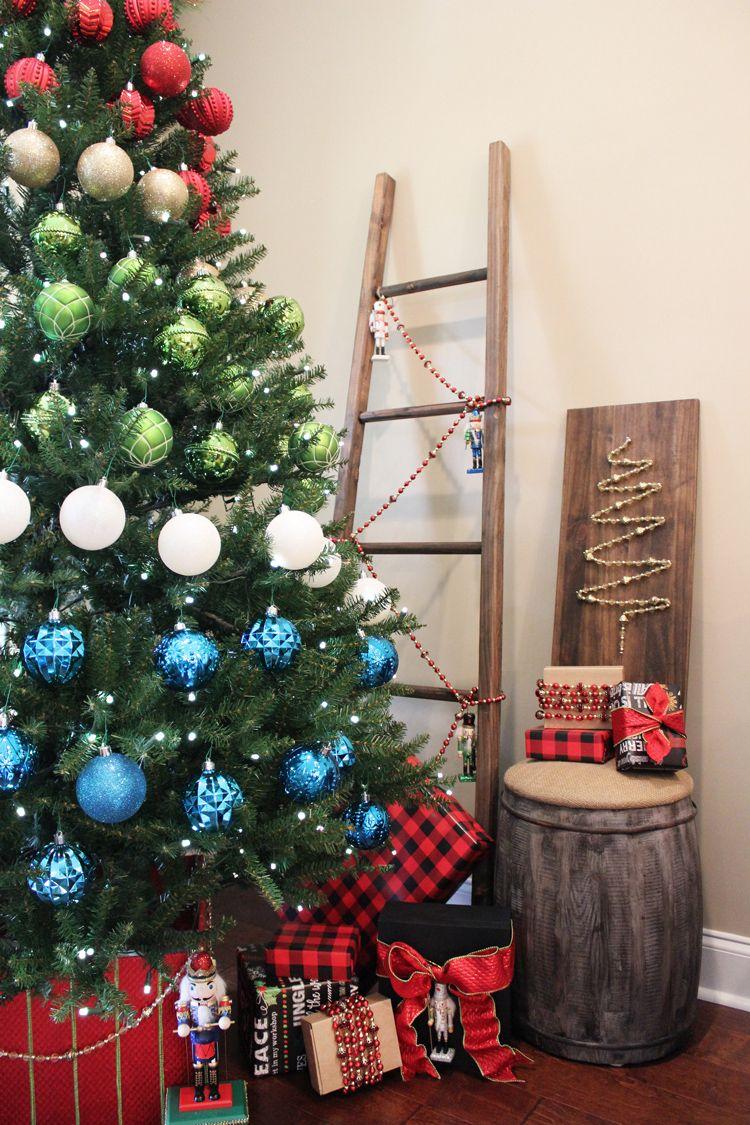 A Colorblock Nutcracker Christmas Decor Traditional Christmas Decorations Christmas Decorations Colorful Christmas Tree
