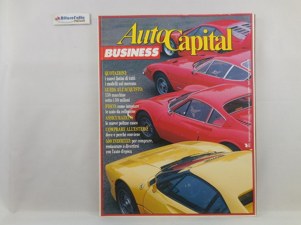 J 5513 RIVISTA AUTOCAPITAL BUSINESS N 1 DEL 1990 A CURA DI GILBERTO MILANO - http://www.okaffarefattofrascati.com/?product=j-5513-rivista-autocapital-business-n-1-del-1990-a-cura-di-gilberto-milano