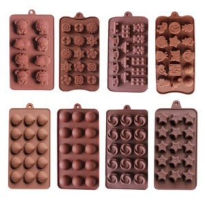 Simple Shapes Silicone Mold Gourmet Chocolate Mold Cake Decoration Baker Tool DIY Chocolate Unique Candy Heart Shape Pyramid Shape Candy Bar