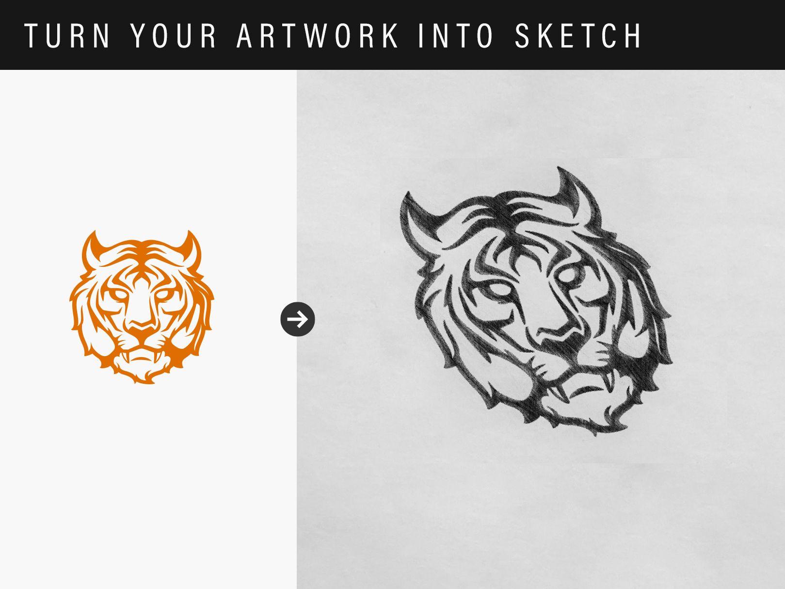 Sketch Effect Logo Mockup   Creative Market   Mockup