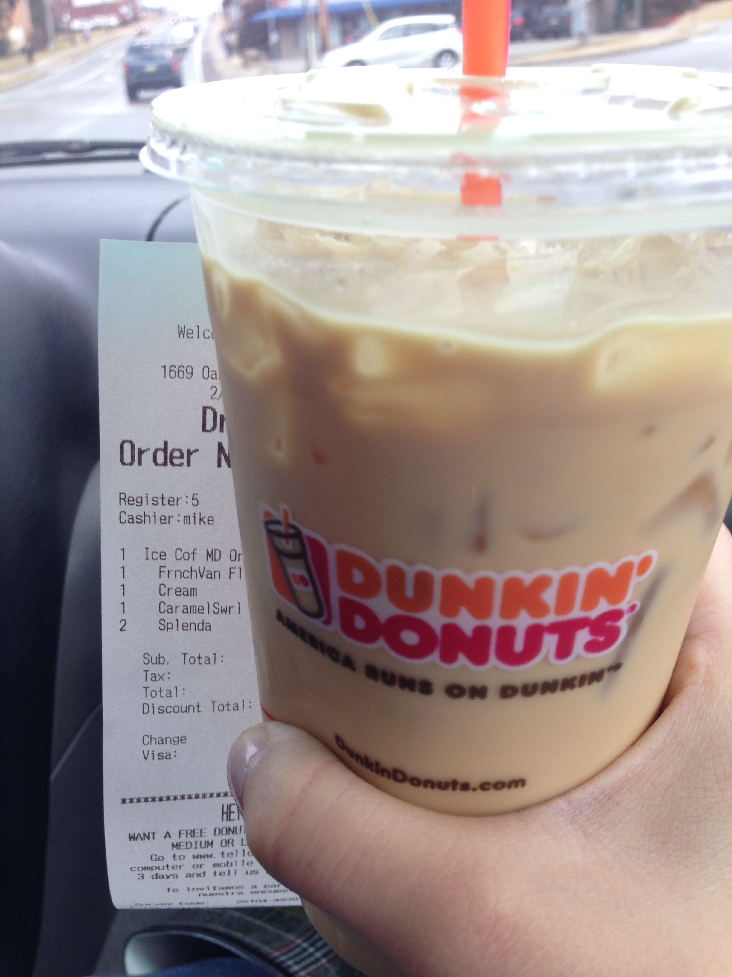 Props to Mike for the bomb caramel swirl french vanilla iced ...