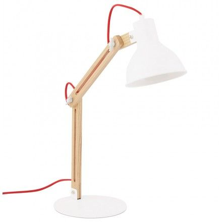 Idéale dans un bureau la lampe de table scandinave COTINGA MINI en