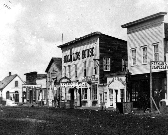 Downtown Cheyenne Wy 1869 Old West Photos Old West Old West Town