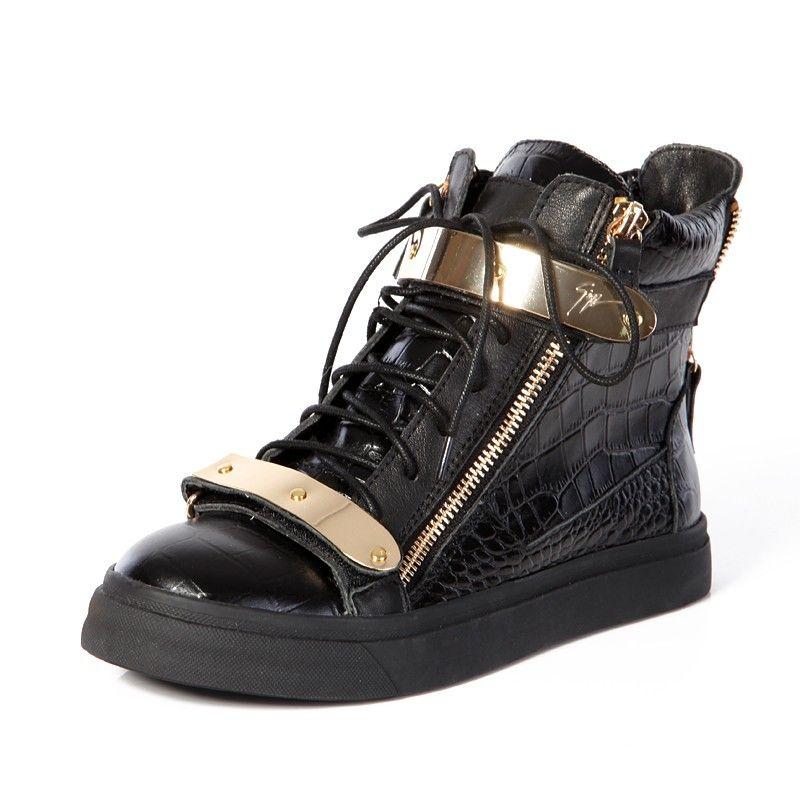 e3a32025309f7 Giuseppe Zanotti Mens Croc High Top Double Buckles Sneakers In Black Model:  gzmenshoes024 580 Units in Stock Manufacturer: Giuseppe Zanotti $770.00  $280.00