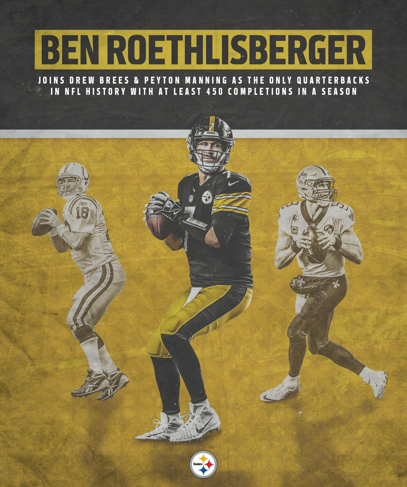 Big Ben in The Same Group as All Time Greats !! Great Job