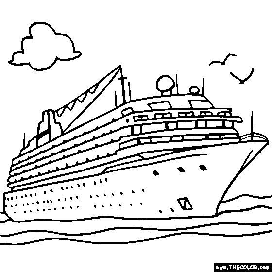 Cruise Ship Online Coloring Page Make Into Cruise Savings Chart Online Coloring Pages Coloring Pages Ship Drawing
