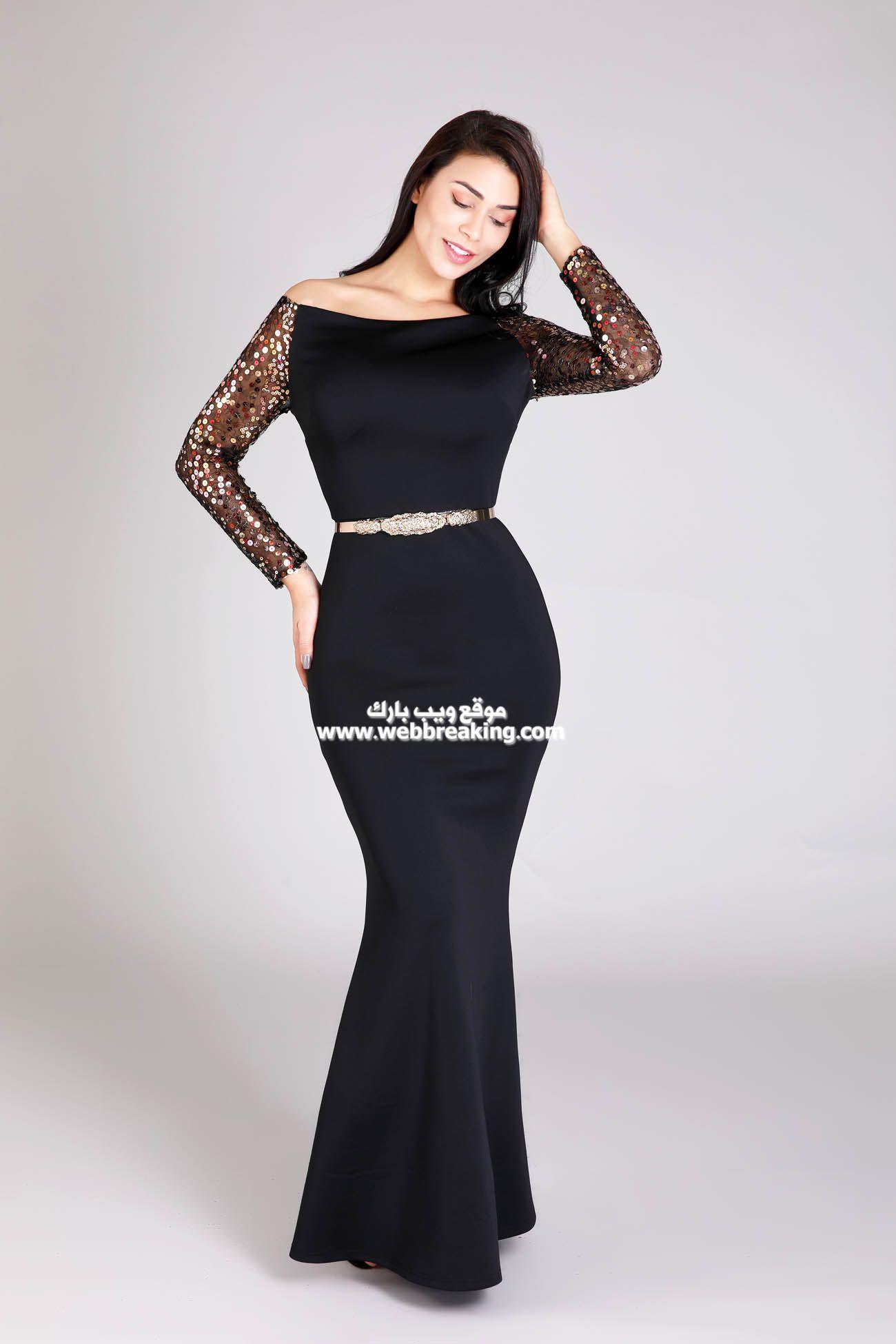 صور فساتين سهرة 2021 جديدة أجمل صور فساتين سهرة لون أسود 2021 فساتين للسهرة لون أسود أنيقة 2021 أجمل صور Mermaid Formal Dress Formal Dresses Long Dresses