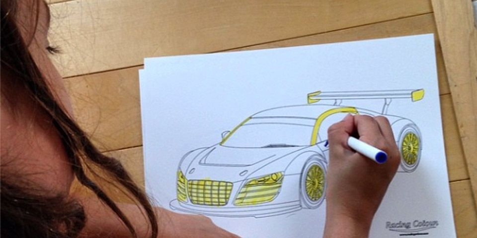 Color your own audi r8 lms from racing colour fourtitude