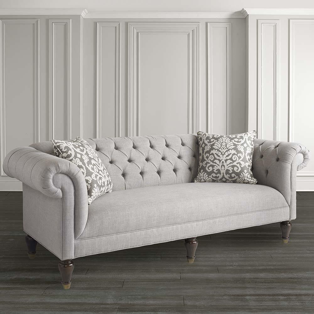 This Chesterfield Style Sofa Has Classic Hand Button Tufted