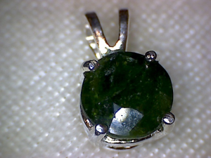 Diopside pendant neat 8 mm 21 carat round cut russian diopside diopside pendant neat 8 mm 21 carat round cut russian diopside set in sterling silver aloadofball Image collections