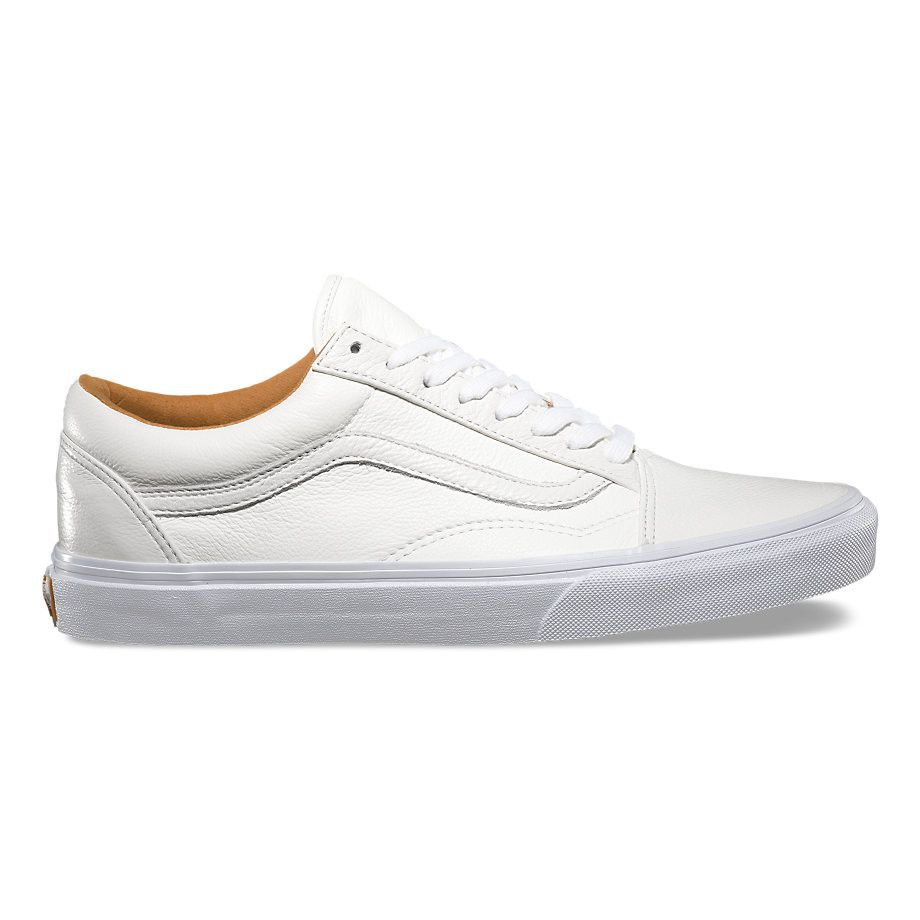 9ed657f30280 Vans Old Skool premium leather all white