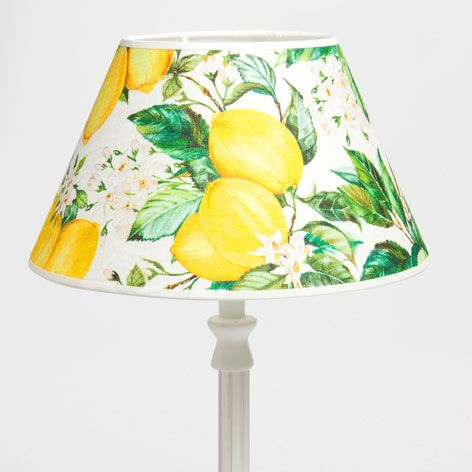 Lemon print lampshade lamps bedroom zara home united states lemon print lampshade zara home united states of america aloadofball Image collections