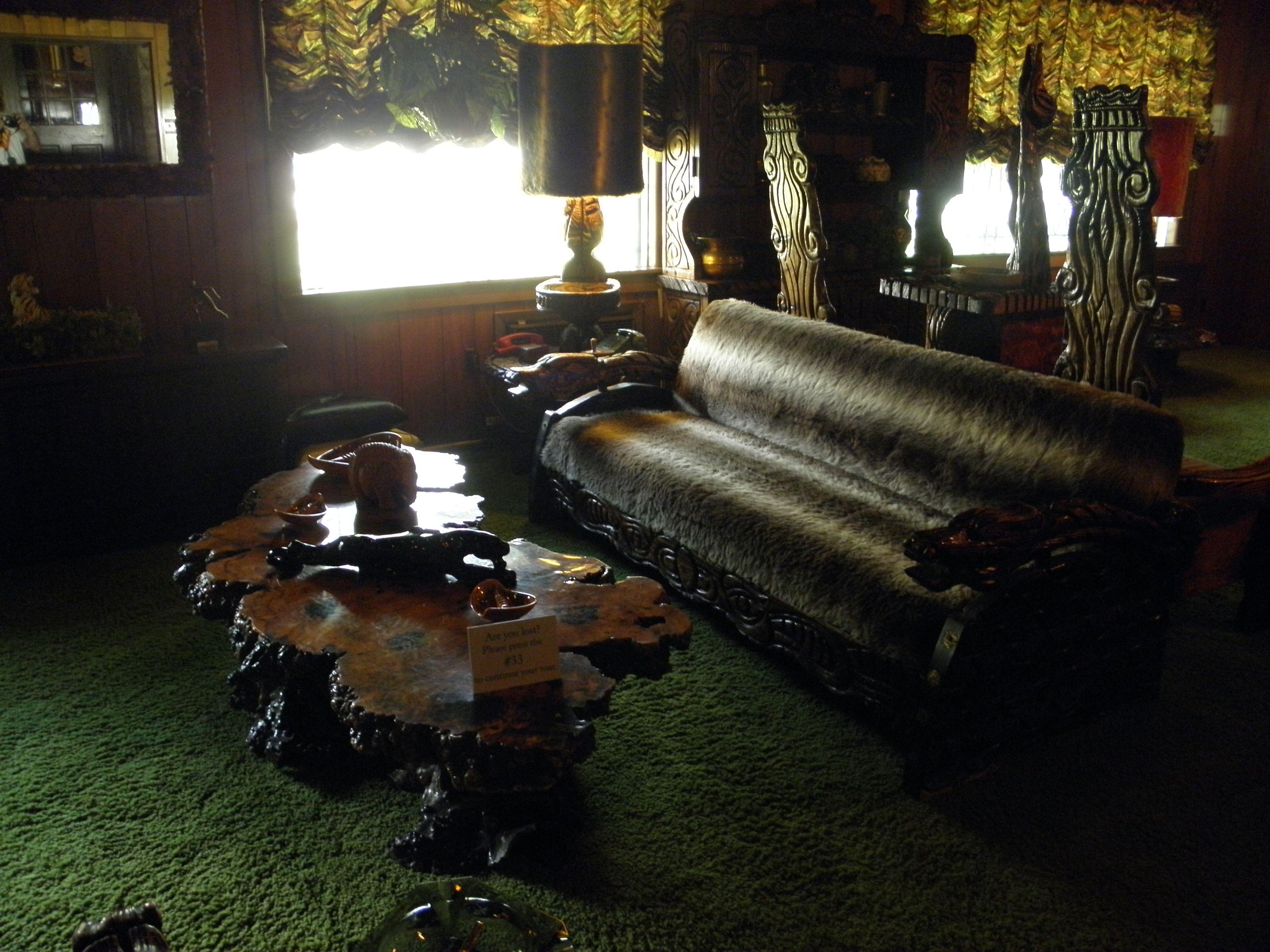 Inside Graceland, Memphis, Tennessee.