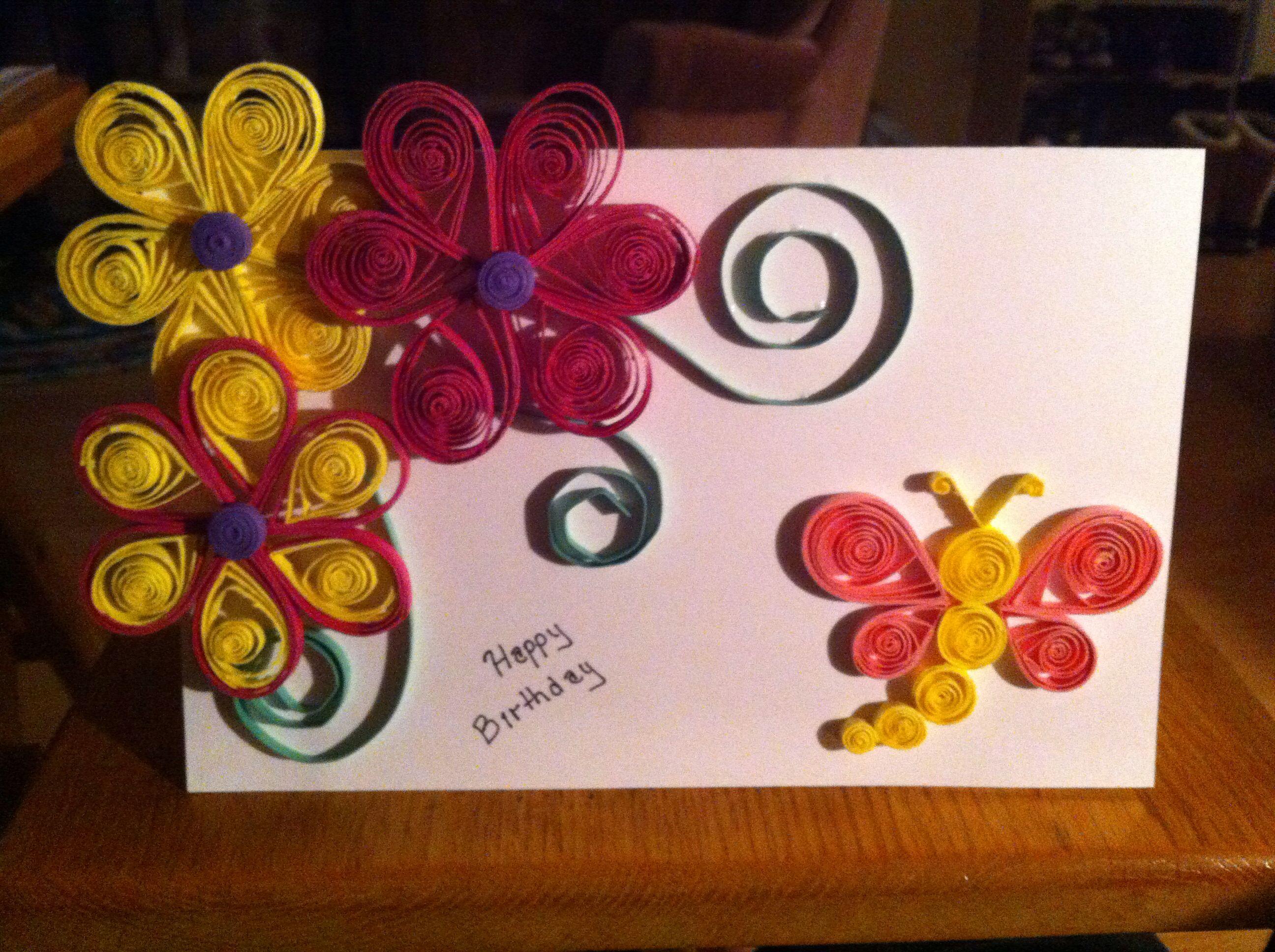 Quilled birthday card Birthday cards, Cards, Birthday