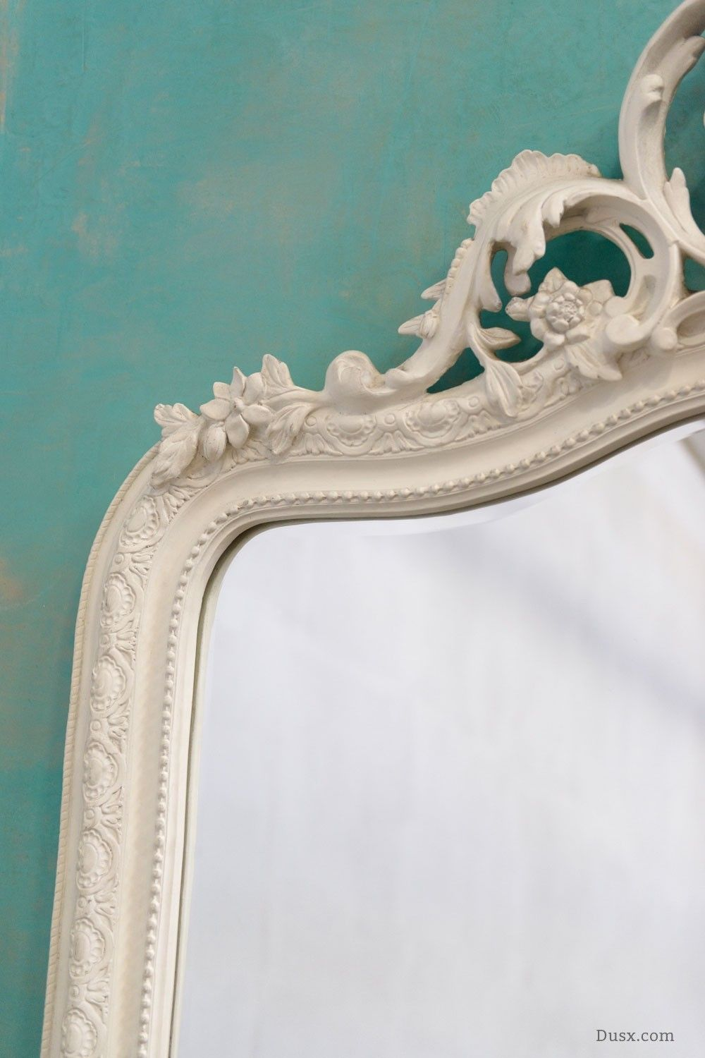 Manon french rococo white bevelled mirror for sale at dusx home dusx french mirrors chandeliers furniture aloadofball Images