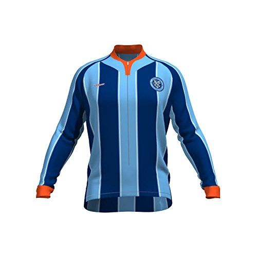MLS New York City FC Womens Original Striped Long Sleeve Cycling Jersey  Large Blue     Continue to the product at the image link.Note It is  affiliate link ... 38ccc78a5