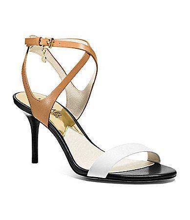 MICHAEL Michael Kors Kaylee Colorblocked Dress Sandals #Dillards